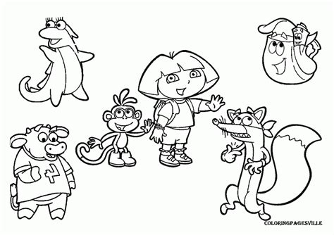 nick jr coloring pages coloring home