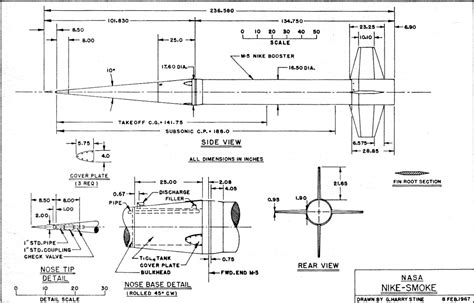 Kaos Triumph Thunderbird scale rocket drawings