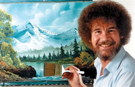 bob ross painting board there are 60 000 bob ross paint trees on