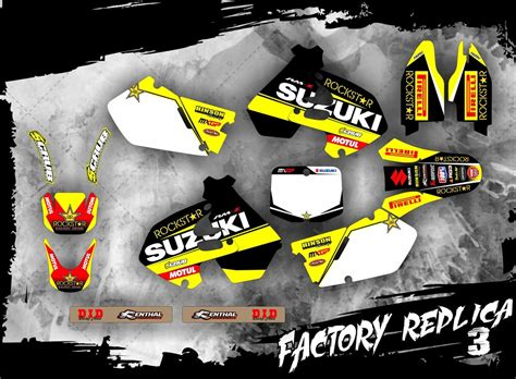 Suzuki Rm 125 Aufkleber by Suzuki Dekor Rm 125 250 1999 2000 Factory Replica 3 Mx