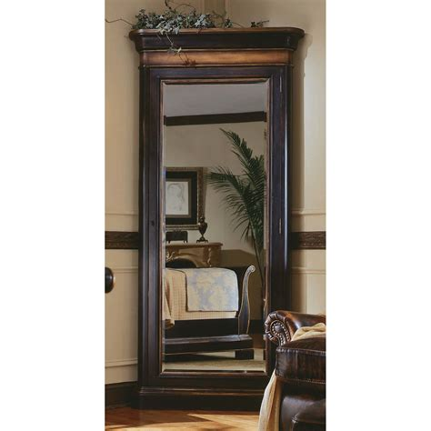 floor jewelry armoire with mirror hooker furniture preston ridge floor mirror with jewelry armoire reviews wayfair