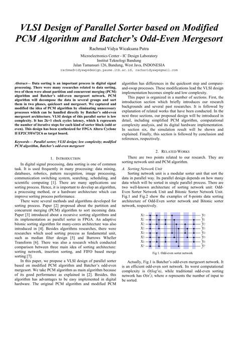 vlsi design application pdf vlsi design of parallel sorter based on pdf download