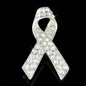 what color is the ribbon for lung cancer w swarovski lung cancer emphysema awareness