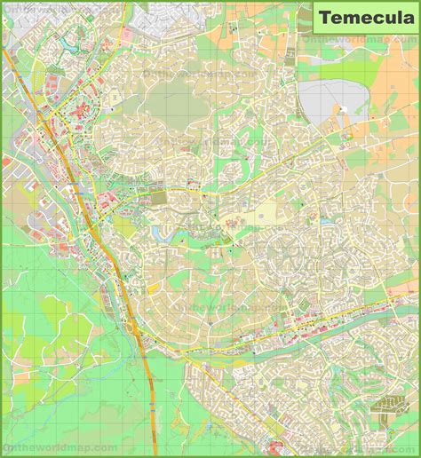 map of temecula large detailed map of temecula
