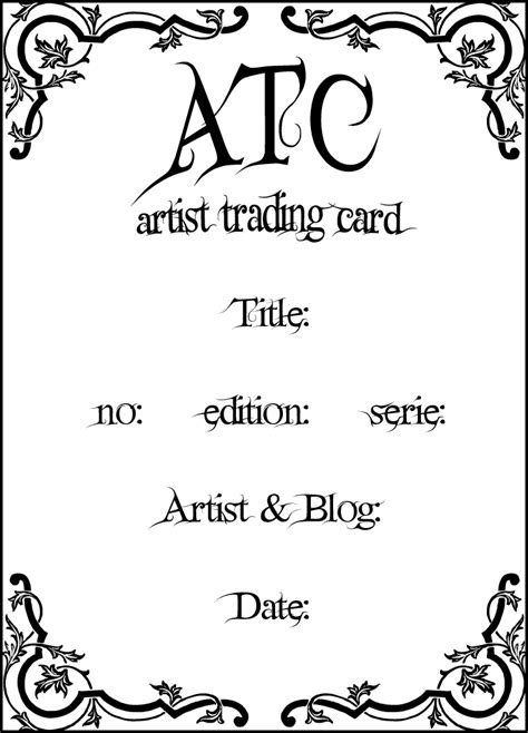 artist trading card back template tt 180 s scraps design