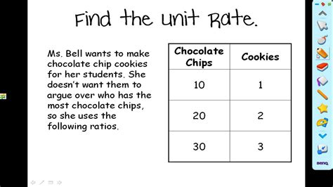 find a table how to find the unit rate in a table or graph