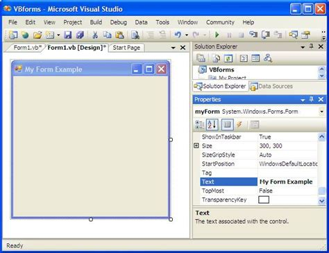 design form vb visual basic and forms techotopia