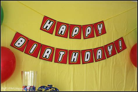 Big K Little G Lego Party Free Printable Banner Lego Happy Birthday Banner Template