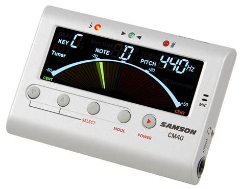 Dijamin Tuner Samson Cm 40 Chromatic samson cm 40 guitar tuner metronome