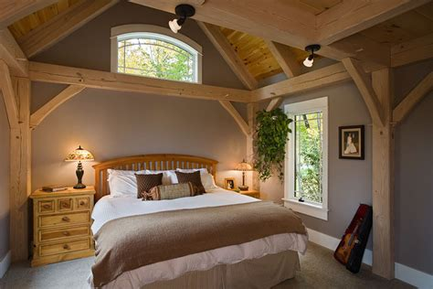 A Frame Style House Plans timber frame contemporary bedroom new york by