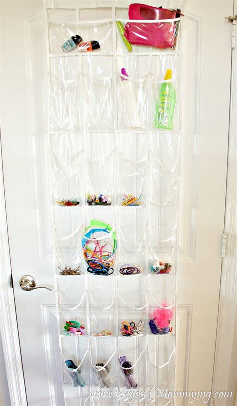 bathroom door organizer creative ways to organize a little girl s bathroom