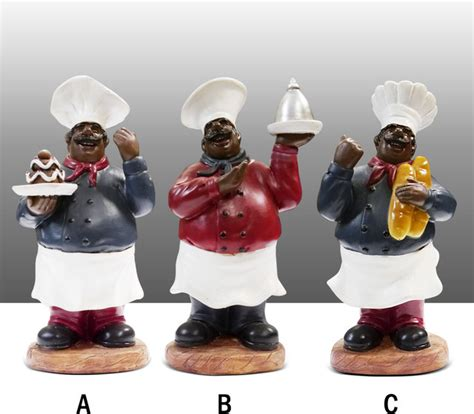 Black Chef Kitchen Decor by Black Chef Kitchen Statue Figure Table Decor Complete