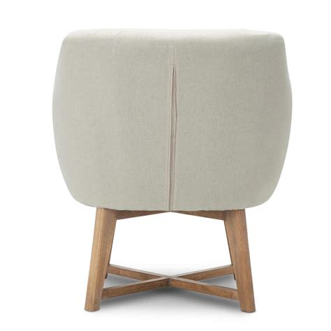 beige armchair fabric tub lounge armchair beige