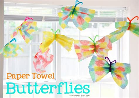 Crafts With Paper Towel - paper towel butterflies craft c skip to my lou