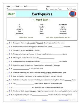 earthquake quiz questions and answers bill nye earthquakes worksheet answer sheet and two