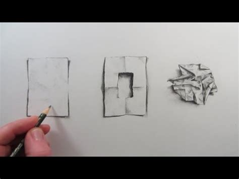 How To Make Blueprint Paper - how to draw a of crumpled paper narrated visual