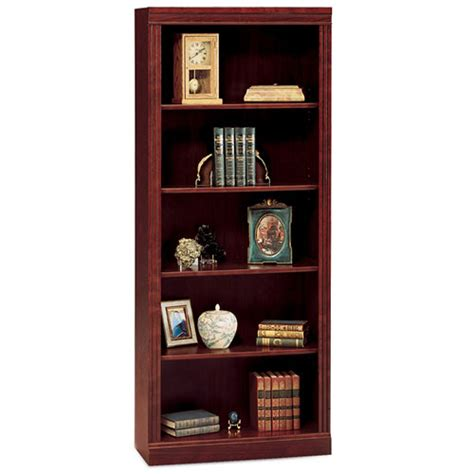 bush saratoga 5 shelf bookcase harvest cherry walmart