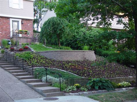 Sloping Garden Design Ideas Uk Landscapingfor Slopped Front Yards Steep Front Yard With A Wall Ground Cover And Planting