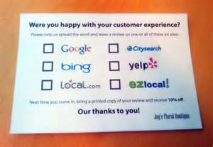 business cards reviews encouraging customer reviews 4 tips to get talking