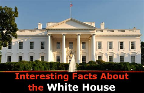 facts about the white house interesting facts about the white house mental itch