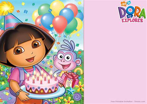 dora printable birthday decorations free printable dora the explorer party invitation template