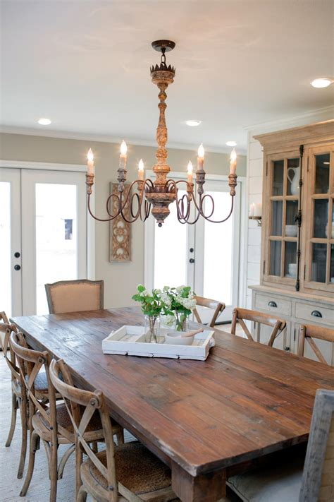 Country Dining Room Lighting My Big Family Renovation Hgtv