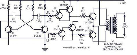 dc to 3 phase ac inverter circuit diagram 12vdc to 230vac 60w inverter circuit circuit wiring diagrams