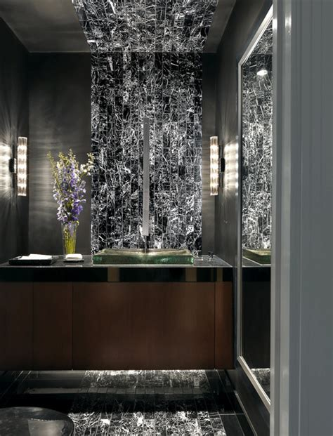 Remodeling Small Bathrooms Ideas luxury condominium contemporary powder room st louis