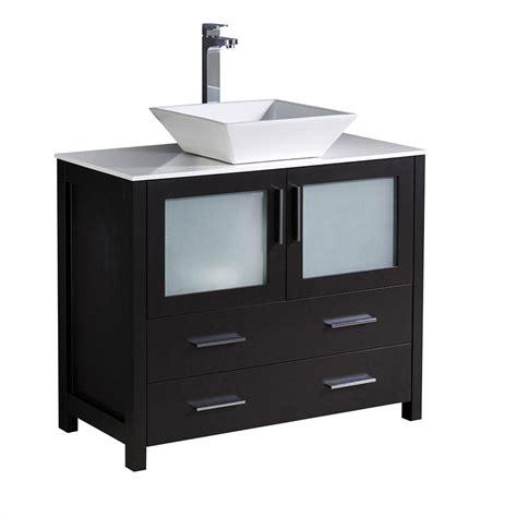 bathroom cabinet espresso torino 36 quot espresso modern bathroom cabinet w vessel sink