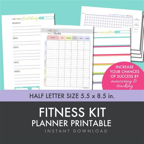 free printable weight loss planner fitness planner weight loss food diary menu planner