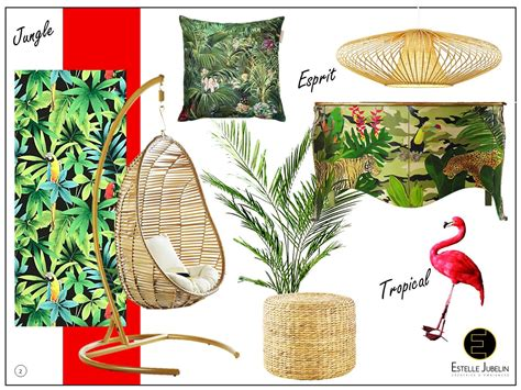 Decoration Interieur Tropical by Planche Tendance Decoration Tropicale Jungle 2 Estelle