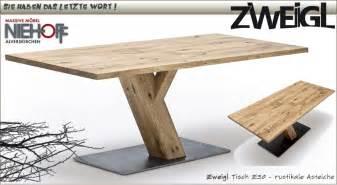 massiver tisch massiver tisch zweigl z30 rustikale asteiche