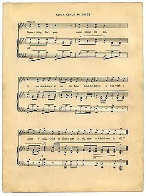 Vintage Printable   Christmas Sheet Music   Santa   The