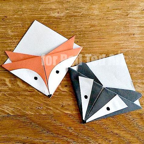 How To Make Corner Bookmarks With Paper - fox corner bookmarks ted s