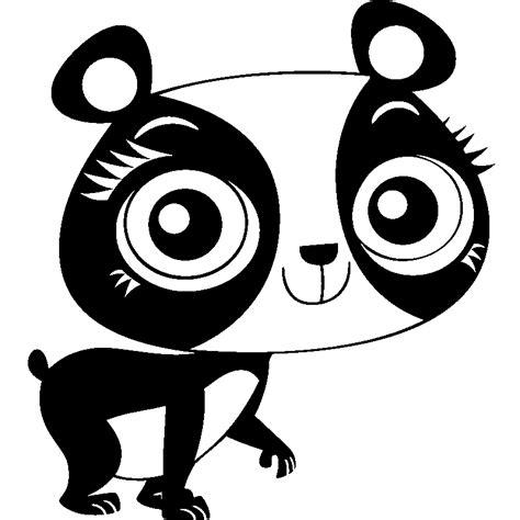 stickers muraux enfant 3648 sticker panda avec des gros yeux stickers filles tous