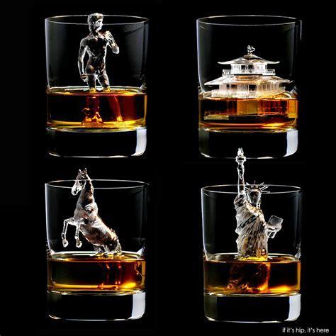 Impressive Ice Art For Suntory Whisky
