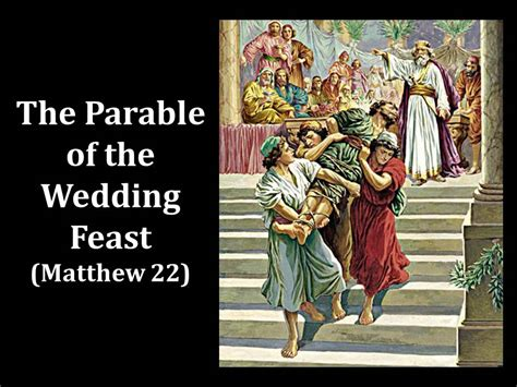 Wedding Feast Bible The Parable Of The Wedding Feast Matthew 22 The