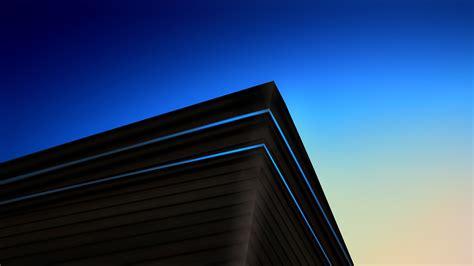 wallpaper architecture modern minimal blue cgi