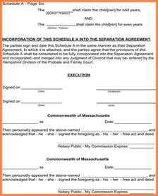 6 notarized separation agreement massachusetts purchase