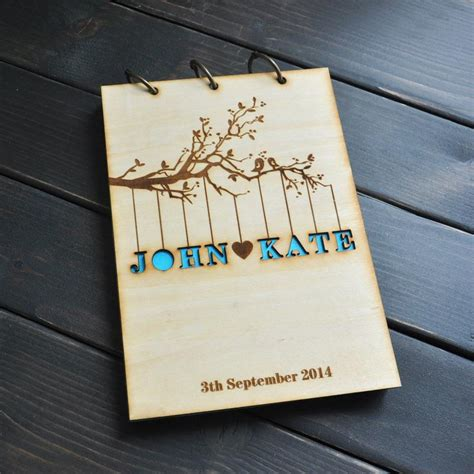 Wedding Album Guest Book by 2017 Personalized Wedding Guest Book Rustic Wedding