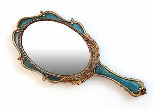 Hand Held Vanity Mirror 28 99spruce Green Gold Hand Held Vanity Mirror Wall