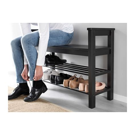 shoe storage bench ikea hemnes bench with shoe storage black brown 85x32 cm ikea