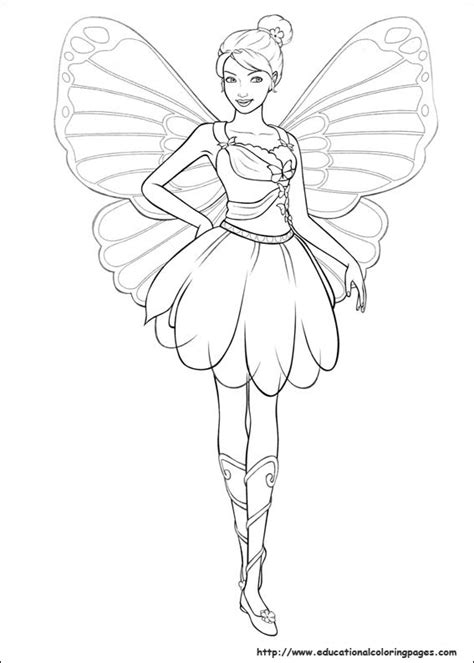 barbie hair coloring page barbie mariposa coloring pages free for kids