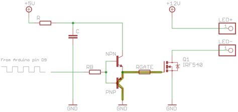 arduino transistor led driver arduino transistor led driver 28 images tutorials extending pwm output pins with a