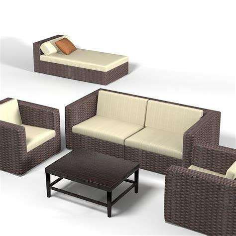 Dedon Patio Furniture Dedon Wicker Wowen 3d Model