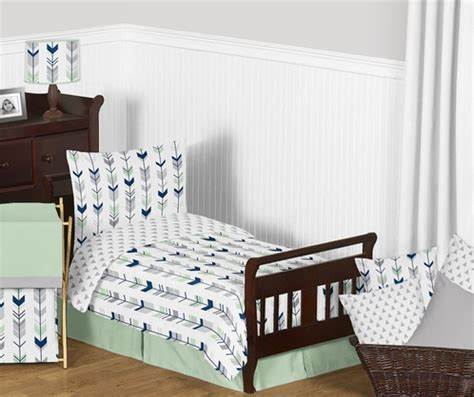 navy toddler bedding grey navy blue and mint woodland arrow toddler bedding
