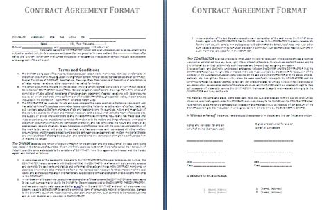 contract of agreement template blank contract template free contract templates