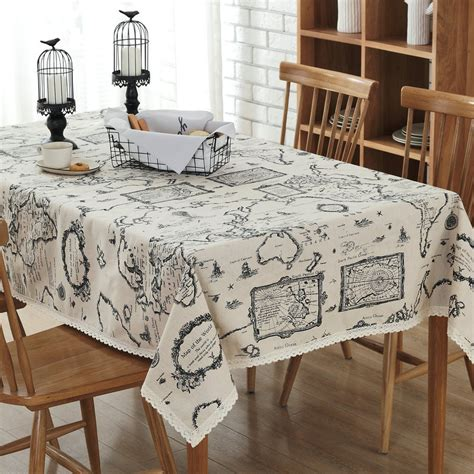 cotton table cloth online home decor linen cotton table cloth map iron tower plaid