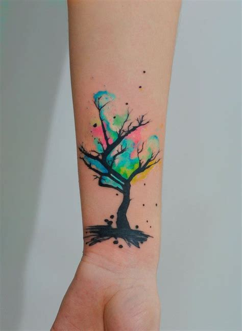 watercolor tattoo idea 78 ideas about tree designs on blossom
