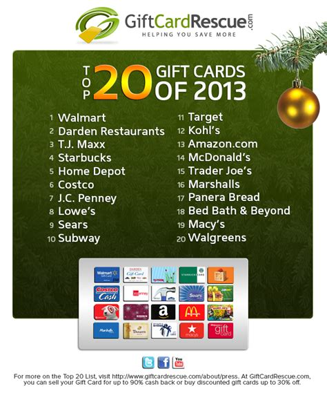 Half Price Gift Cards Restaurants - walmart america s most wanted gift card